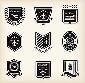 Plane aviation badges