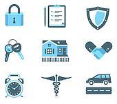 Handshake insurance icons