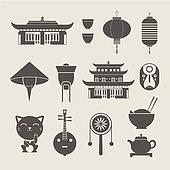 Chinese travel icons