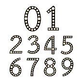 Black Broadway Light Bulb Numbers