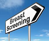 Breast screening concept.