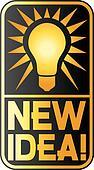 new idea light bulb