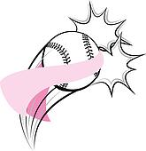 Softball Breast Cancer Pow