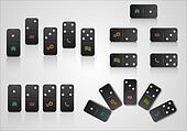 Set of creative web design with domino blocks