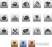 Food Icons - Set 1 of 2 -- Metalbox