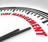 Time Management Words Clock Timer Managing Hours