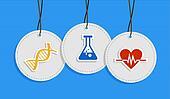 Hanging medical care badges