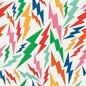 Colorful, retro bolt seamless pattern.
