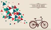 Retro hipster bicycle with geometric elements.
