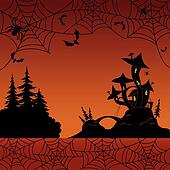 Holiday Halloween landscape