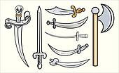 Swords and Weapons Vector