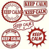 Keep calm stamps set