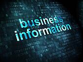 Finance concept: Business Information on digital background