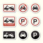 No parking, parking forbidden sign