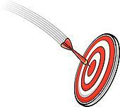 dart hitting s target
