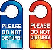 please do not disturb sign set