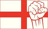 england fist (flag of england)