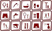 hair care and bathroom icons