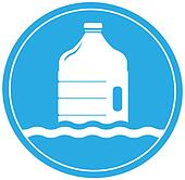 drinking water symbol with bottle