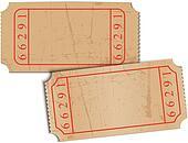 Vector vintage blank paper tickets