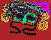 Fall mardi gra mask illustration