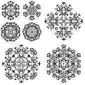 Abstract pattern, set