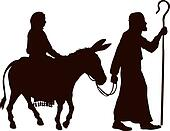 Mary and Joseph silhouettes