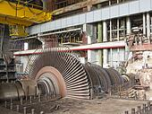 Power generator and steam turbine during repair