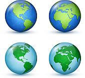 Earth planet. World Map