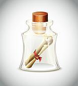 Old Scroll In Bottle