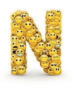 Emoticons letter N