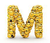 Emoticons letter M