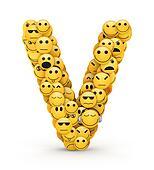 Emoticons letter V