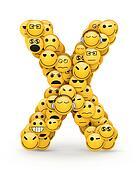 Emoticons letter X