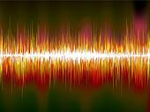 Sound waves on black background. EPS10