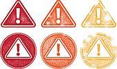 Grunge Alert Icon Symbols