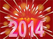 New Year 2014 holiday background