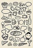 Restaurant Icons doodle
