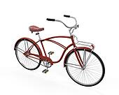 Vintage Bicycle Isolated