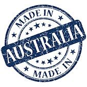 Made In Australia blue stamp