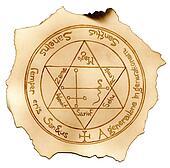 Magical symbols. Texture burnt paper