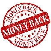 MONEY BACK red stamp