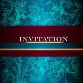 Elegant design of luxury invitation card in vintage style