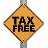 3d road sign tax free