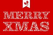 Merry Christmas icons text composition.