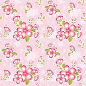 Oriental Flower Seamless Pattern Background