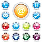 icon pack @ mail set symbol vector