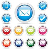 icon pack mail set symbol vector