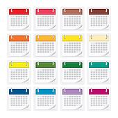 icon pack calendar isolated background