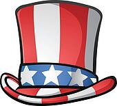 Uncle Sam Top Hat American Cartoon